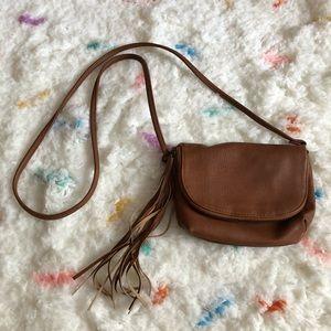 Mossimo Brown Leather Tassel Bag